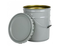 Pail 20L White Plain Lid